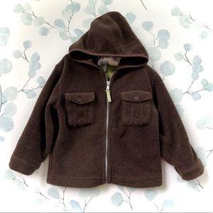 Baby GAP Brown Fleece Zippered Hooded Sweatshirt